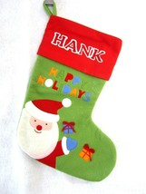CHRISTMAS STOCKING personalized HANK Henry Felt embroidery applique Sant... - $12.99