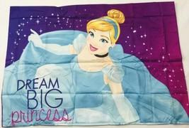 Disney Cinderella Pillowcase Pillow Case Princess Bedding Decor Bright C... - $16.82
