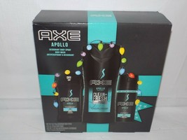 AXE Apollo Holiday Gift Set Body Spray Body Wash Antiperspirant & Deodorant - $23.71