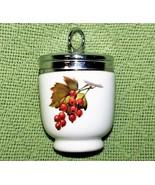 ROYAL WORCESTER EGG CODDLER PLUM Red CURRANTS Porcelain JUMBO Size EVESHAM  - $16.39