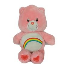 "Care Bears Cheer Bear Pink Rainbow Plush Stuffed Animal 2002 14"" - $33.06"