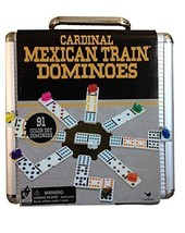 Mexican Train Domino Game in an Aluminum Case by Cardinal Industries, New - $33.13