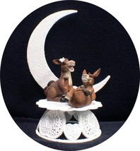 HEEL kick Donkey Wedding Cake Topper Country Western adorable funny farm... - $44.45