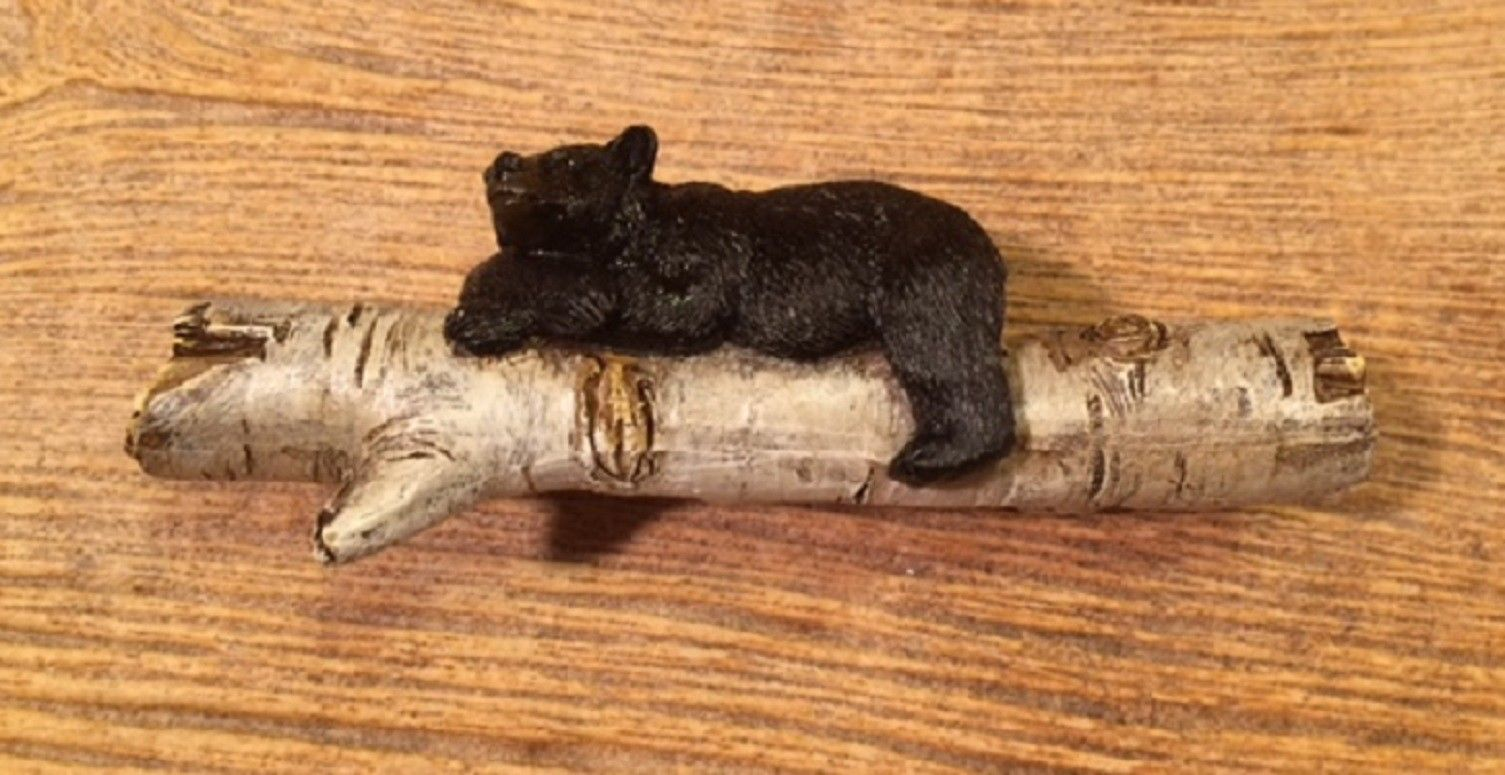 Primary image for Bear on Birch Log Drawer Handle (Set of Six) Home Decor Supplies 021-12588