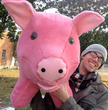 Giant Stuffed Pink Pig 32 inches Soft Made in theUSA America - $147.11