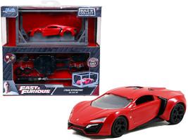 Model Kit Lykan Hypersport Red with Black Wheels Fast & Furious Movie Build N' C - $19.59