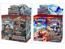 Pokemon TCG Crimson Invasion + Primal Clash Booster Boxes Sealed Sun & Moon XY - $209.99