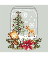 Deer Snow Globe christmas holiday cross stitch chart Shannon Christine D... - $10.00