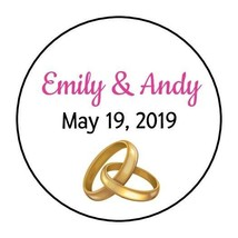 30 Personalized Bridal Shower stickers favors labels wedding tags rings ... - $8.99