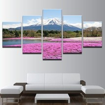 5Pcs Fuji Snow Mountan Frame Canvas Print Painting Picture Wall Art  Hom... - $8.45+