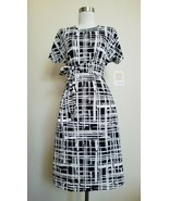 NWT LULAROE MARLY TIE DRESS XS Extra Small Patchwork Black White 2019 PRINT - $27.71