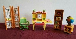 Fisher Price Loving Family Work at Home Office Set Desk Chair Printer Bo... - $22.99