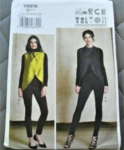 Pattern Vogue Designer Vest & Pants March Tilton V9216 Uncut Factory Folded - $14.35