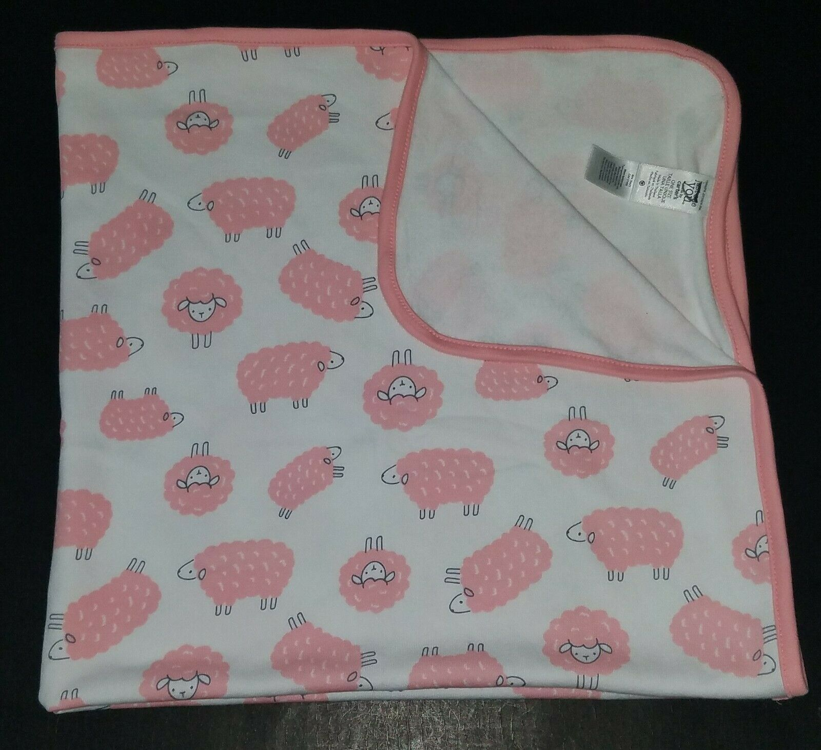 Primary image for Carter's Just One You Pink Sheep Lovey Security Receiving Blanket Cotton White