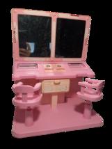 Mattel Vintage Barbie DREAM HOUSE Salon Vanity & Chairs, Pink  - $22.30