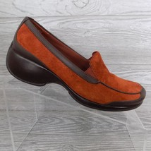 Rockport DMX Leather Suede Slip On Loafers Womens Size 6.5 M Comfort Heels - $29.69