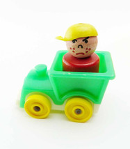 Vintage Lot Fisher Price Wood Little People w/ Baby Nursery Train Bike Rocking H - $19.99