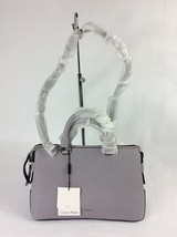 Calvin Klein Maggie Leather Small Satchel Dusty LilacSilver $228 - $98.00