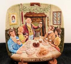"Royal Doulton Country Themed Christmas Plate  ""England"" 1972 - $11.39"