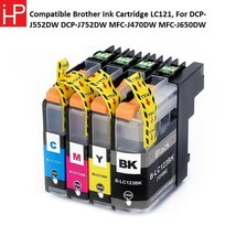 COMPATIBLE BROTHER INK CARTRIDGE LC121, FOR DCP-J552DW DCP-J752DW MFC-J4... - $35.51