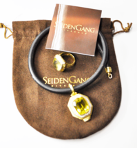 "Seiden Gang Divagold 18k Lemon Citrine 19mm Sz 7 Ring & 46mm 16"" Cord Ch... - $4,454.99"