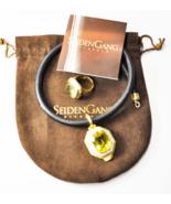 "Seiden Gang Divagold 18k Lemon Citrine 19mm Sz 7 Ring & 46mm 16"" Cord Ch... - $4,454.99"