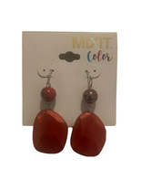 """MIXIT Red Panel dangle earrings Silver Tone 2"""" - $14.95"""