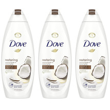 3-Dove Restoring Body Wash for Dry Skin Coconut Butter and Cocoa Butter ... - $42.99