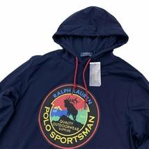 Ralph Lauren Polo Sportsman Hooded T-Shirt Size Medium Navy Blue Hoodie  - $49.99