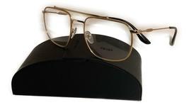 Prada Unisex Gold Metal Glasses with case VPR 56U 1BK 1O1 55mm - $185.99
