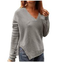 Autumn Winter Sweaters Pullovers Women Sexy Casual Side Split Knitted Sw... - $38.97+