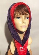 "1 RED & 1PURPLE CHIFFON SOFT SCARF 60"" X 13"" GREAT FOR RED HAT LADIES OF... - $58.35 CAD"