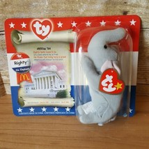NEW in BOX 1996 Retired RIGHTY The Elephant McDonald's Ty Beanie Baby - $12.59
