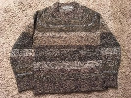 Mens Express Lambswool Acrylic V-neck Heavy Marbled Sweater Size L - $31.99
