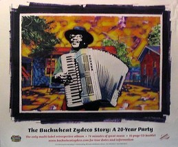 THE BUCKWHEAT ZYDECO STORY POSTER;20 YR. PARTY (B9) - $8.59
