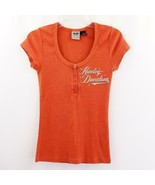 Harley Davidson Scoop Neck Eagle T Shirt Womens Sz M - $24.18
