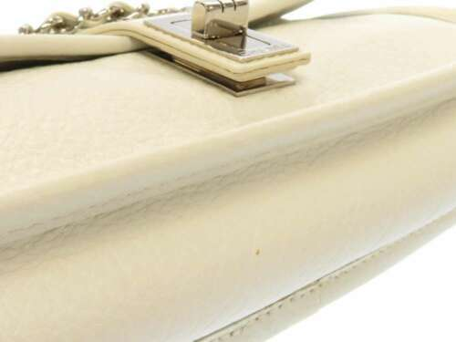 CHANEL Shoulder Bag 2.55 Leather White Semi Shoulder Length Italy Authentic image 7
