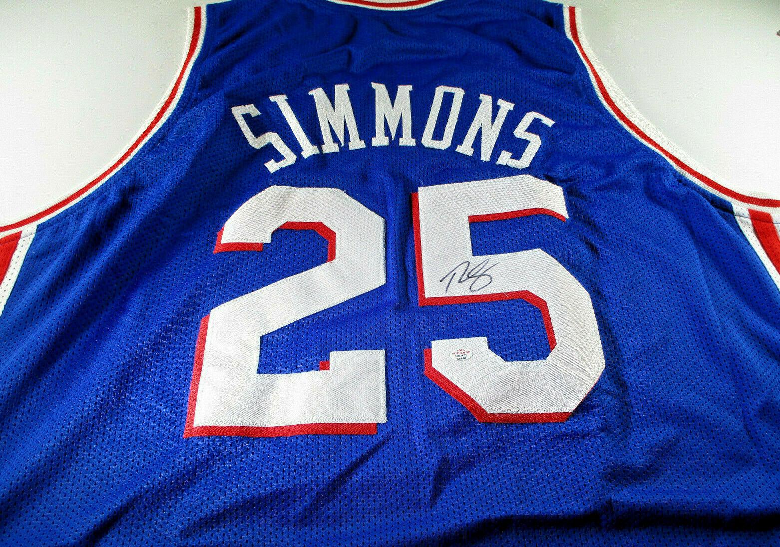 BEN SIMMONS / 2020 NBA ALL-STAR / AUTOGRAPHED PHILADELPHIA 76ERS CUSTOM JERSEY