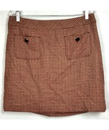 Ann Taylor LOFT Sz 12 Skirt Pencil Straight Wool Blend Back Zip Career L... - $29.87