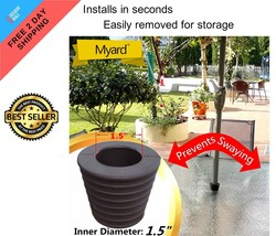 Outdoor Umbrella Cone Wedge Fits Patio Table Hole Opening Base 2 to 2.5 ... - $18.11 CAD