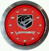 New Viper red neon clock   More Dodge Ford Chevrolet Jeep car clocks ava... - $79.95