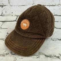 Gymboree 2T-5T Brown Orange Corduroy Ballcap Hat Moose Lodge - $15.84