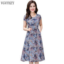 "Women""s Summer Dresses new 2018 New Middle-Aged Fashion Print Loose Dres... - $43.80"