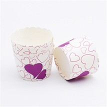 50Pc Pink Peach Blossom Muffin Cupcake Paper Cup Cupcake Wrapper Liner B... - $15.99