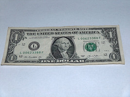 2013 $1 Dollar Bill US Bank Note Pairs 0's 3's 8's 00623388 Fancy Money ... - $12.95