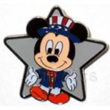 dac053d9eaa Disney Patriotic Americana Uncle Sam Mickey Mouse Stars and Stripes Pin -   11.75
