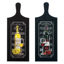 Art Wall Art, Wine Bottle Duo Wood Rustic Mount Bedroom Wall Art Decor - $41.99
