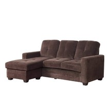 Phelps Sofa Chaise In Coffee Microfiber By Homelegance - $1,139.19