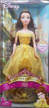 DISNEY Glitter Princess BELLE with Tiara, New - $19.95