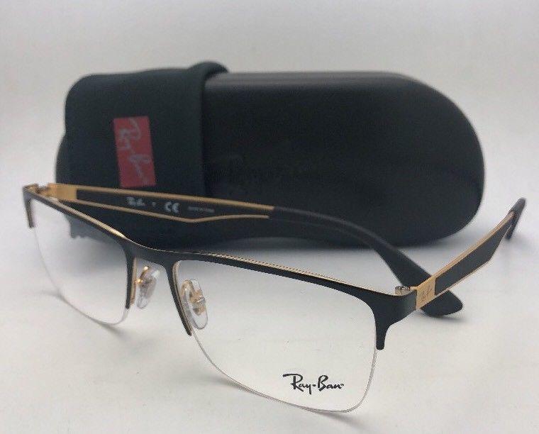 1bcd1bb7c74e S l1600. S l1600. Previous. New RAY-BAN Eyeglasses RB 6335 2890 54-17 145  Semi Rimless Black